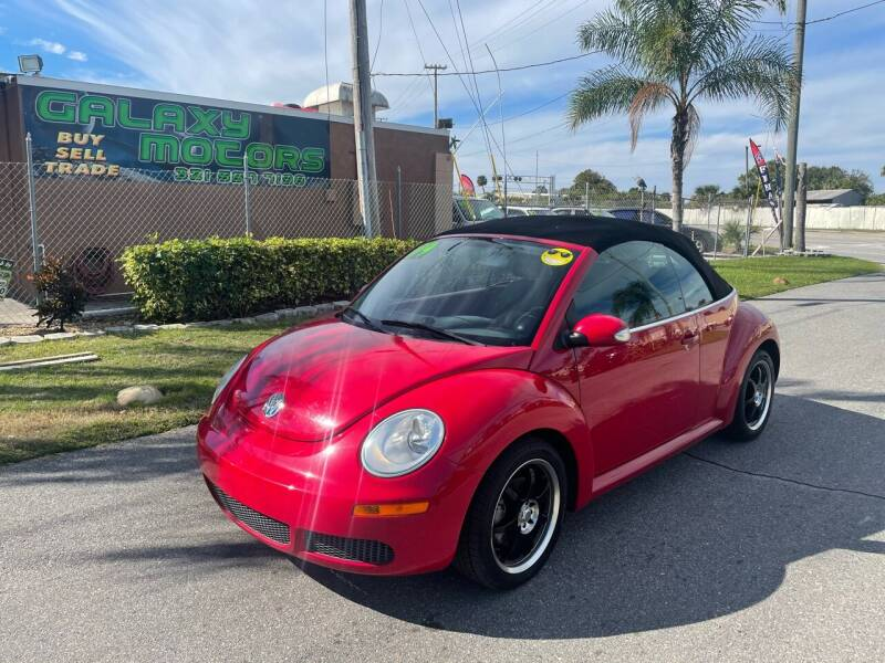 2009 Volkswagen New Beetle Convertible for sale at Galaxy Motors Inc in Melbourne FL