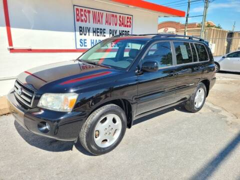 2007 Toyota Highlander for sale at Best Way Auto Sales II in Houston TX