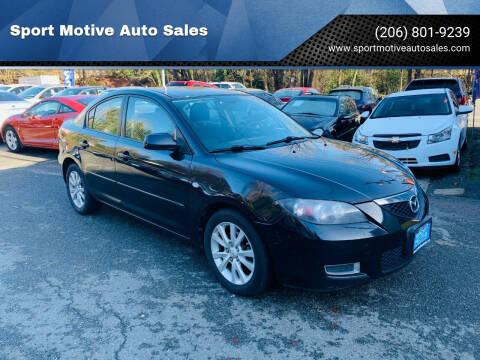 2008 Mazda MAZDA3 for sale at Sport Motive Auto Sales in Seattle WA