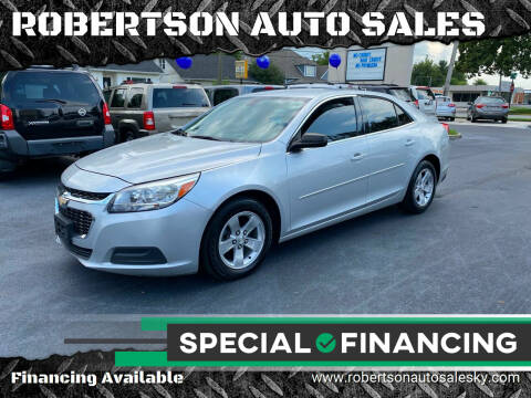 2014 Chevrolet Malibu for sale at ROBERTSON AUTO SALES in Bowling Green KY