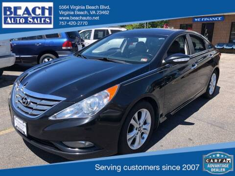 2013 Hyundai Sonata for sale at Beach Auto Sales in Virginia Beach VA