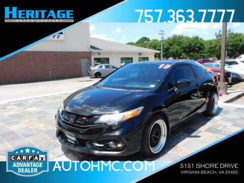 2015 Honda Civic for sale at Heritage Motor Company in Virginia Beach VA