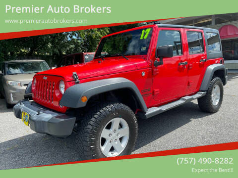2017 Jeep Wrangler Unlimited for sale at Premier Auto Brokers in Virginia Beach VA