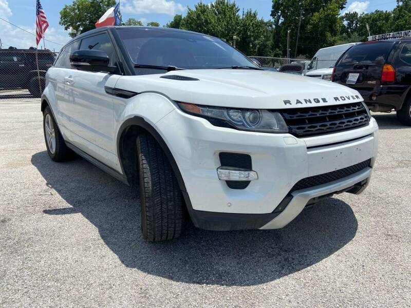 2012 Land Rover Range Rover Evoque Coupe for sale at Lion Auto Finance in Houston TX