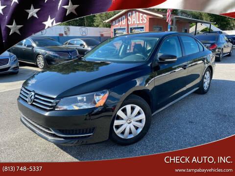 2013 Volkswagen Passat for sale at CHECK AUTO, INC. in Tampa FL