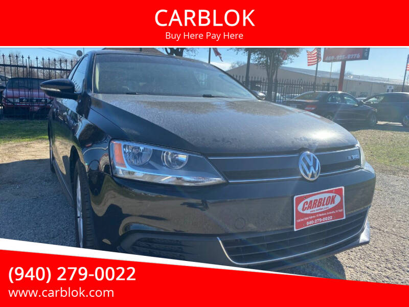 2013 Volkswagen Jetta for sale at CARBLOK in Lewisville TX