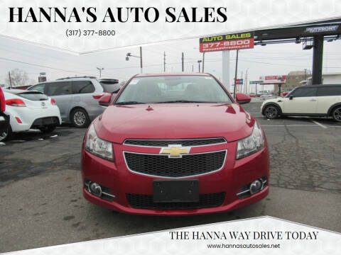 2014 Chevrolet Cruze for sale at Hanna's Auto Sales in Indianapolis IN