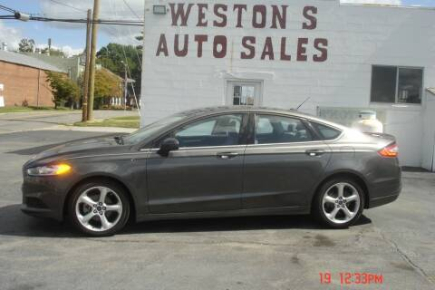 2016 Ford Fusion for sale at Weston's Auto Sales, Inc in Crewe VA
