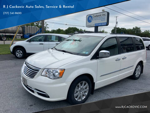 2012 Chrysler Town and Country for sale at R J Cackovic Auto Sales, Service & Rental in Harrisburg PA