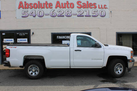 2014 Chevrolet Silverado 1500 for sale at Absolute Auto Sales in Fredericksburg VA