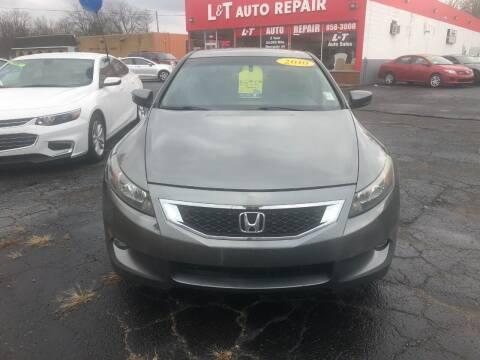 2010 Honda Accord for sale at L&T Auto Sales in Three Rivers MI