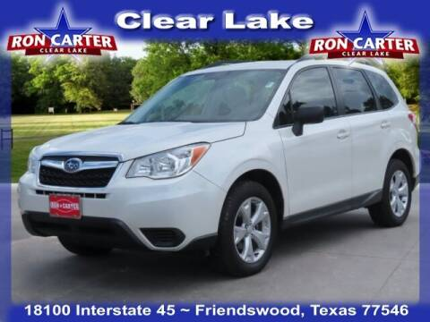 2015 Subaru Forester for sale at Ron Carter  Clear Lake Used Cars in Houston TX