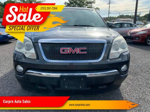 2007 GMC Acadia for sale at Carpro Auto Sales in Chesapeake VA