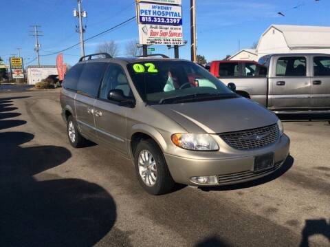 2002 Chrysler Town and Country for sale at North Chicago Car Sales Inc in Waukegan IL