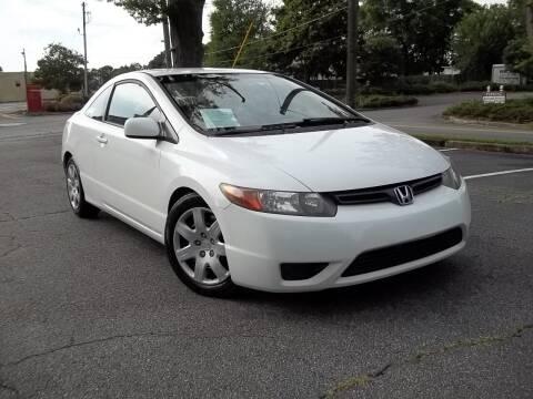 2007 Honda Civic for sale at CORTEZ AUTO SALES INC in Marietta GA