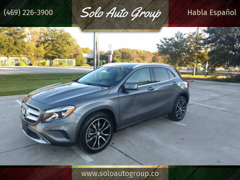 2015 Mercedes-Benz GLA for sale at Solo Auto Group in Mckinney TX