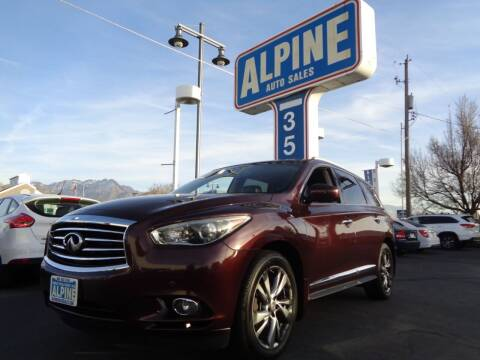2013 Infiniti JX35 for sale at Alpine Auto Sales in Salt Lake City UT