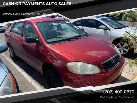 2005 Toyota Corolla for sale at CASH OR PAYMENTS AUTO SALES in Las Vegas NV
