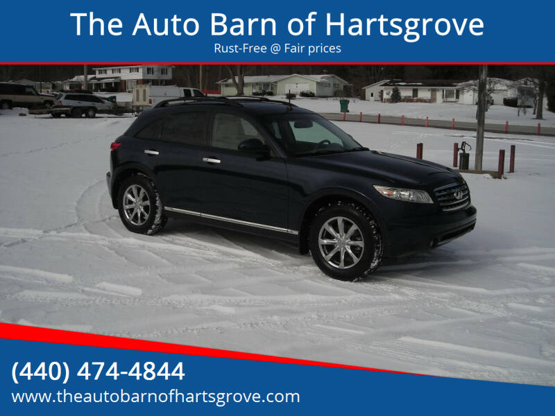 2008 Infiniti FX35 for sale at The Auto Barn of Hartsgrove in Hartsgrove OH