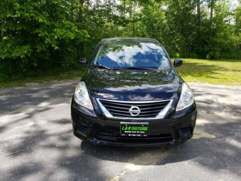 2013 Nissan Versa for sale at L & R Motors in Greene ME