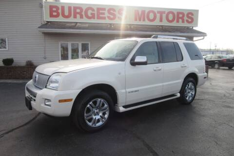 2007 Mercury Mountaineer for sale at Burgess Motors Inc in Michigan City IN