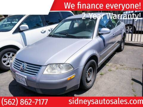 2004 Volkswagen Passat for sale at Sidney Auto Sales in Downey CA