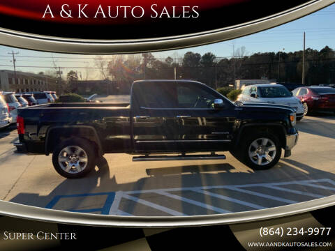 2015 GMC Sierra 1500 for sale at A & K Auto Sales in Mauldin SC