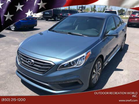 2017 Hyundai Sonata for sale at Outdoor Recreation World Inc. in Panama City FL