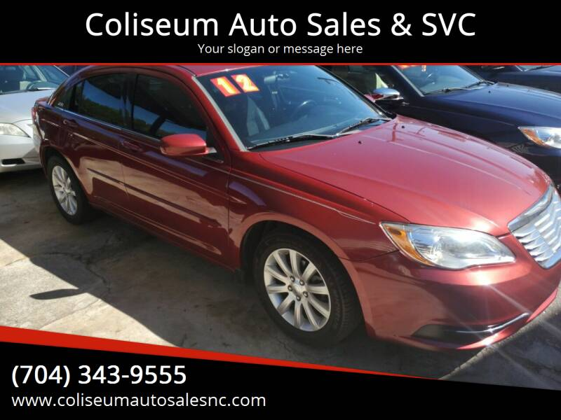 2012 Chrysler 200 for sale at Coliseum Auto Sales & SVC in Charlotte NC
