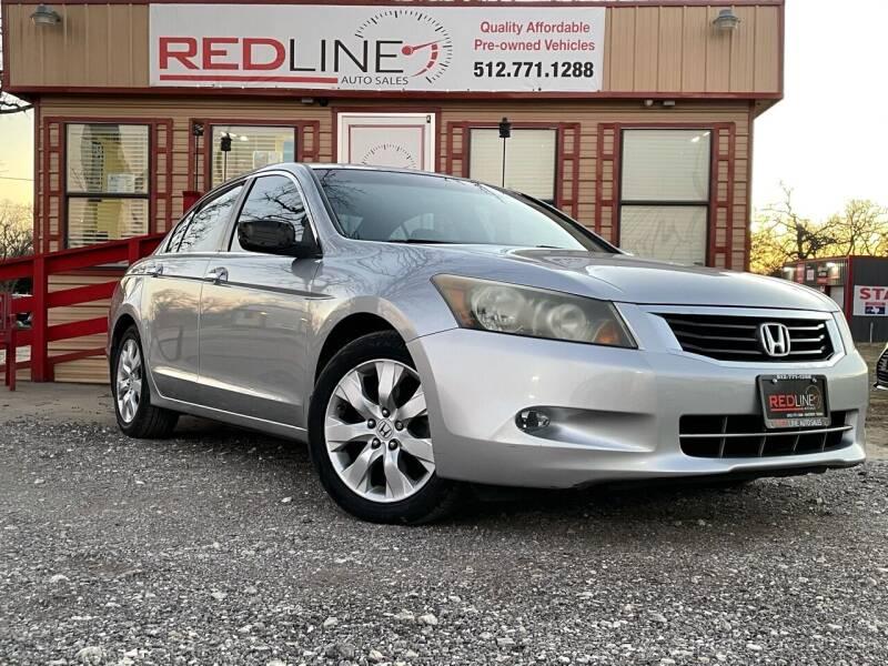 2009 Honda Accord for sale at REDLINE AUTO SALES LLC in Cedar Creek TX