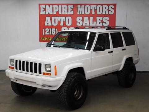2000 Jeep Cherokee for sale at EMPIRE MOTORS AUTO SALES in Philadelphia PA