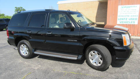 2004 Cadillac Escalade for sale at LENTZ USED VEHICLES INC in Waldo WI