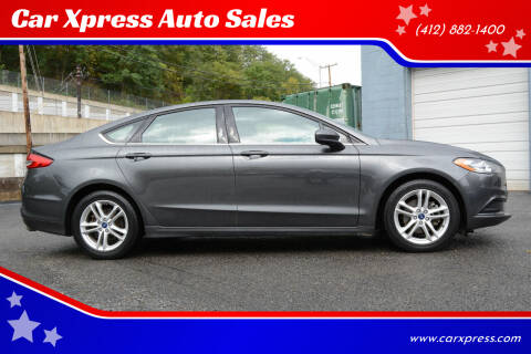 2018 Ford Fusion for sale at Car Xpress Auto Sales in Pittsburgh PA