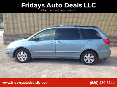 2009 Toyota Sienna for sale at Fridays Auto Deals LLC in Oshkosh WI