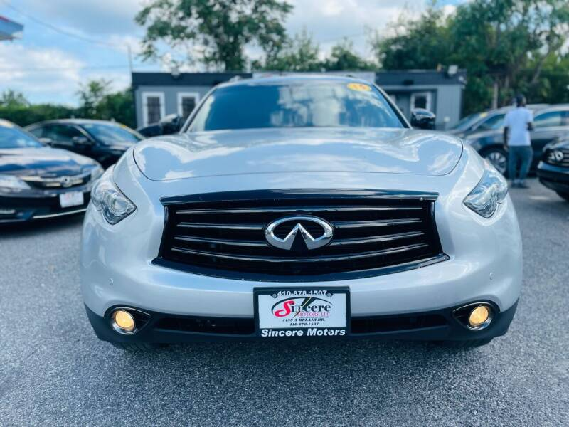 2015 Infiniti QX70 for sale at Sincere Motors LLC in Baltimore MD