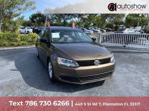 2013 Volkswagen Jetta for sale at AUTOSHOW SALES & SERVICE in Plantation FL