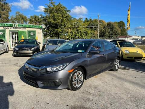 2018 Honda Civic for sale at D & P OF MIAMI CORP in Miami FL