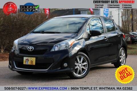 2012 Toyota Yaris for sale at Auto Sales Express in Whitman MA