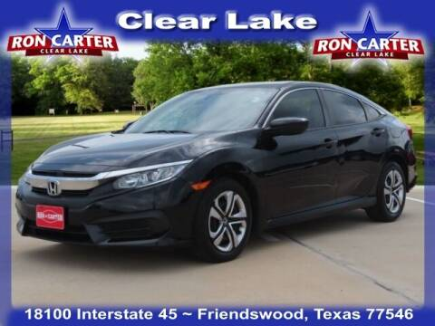2018 Honda Civic for sale at Ron Carter  Clear Lake Used Cars in Houston TX