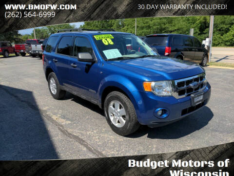 2008 Ford Escape for sale at Budget Motors of Wisconsin in Racine WI