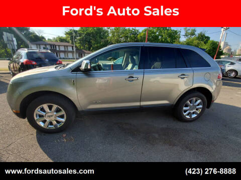 2008 Lincoln MKX for sale at Ford's Auto Sales in Kingsport TN