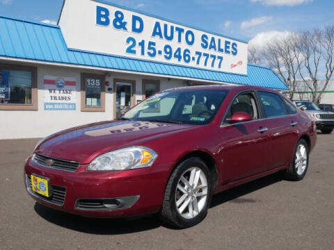 2008 Chevrolet Impala for sale at B & D Auto Sales Inc. in Fairless Hills PA