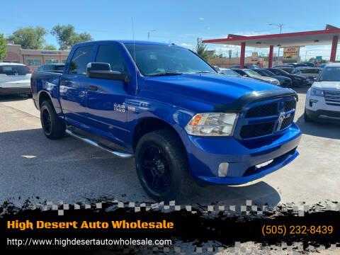 2017 RAM Ram Pickup 1500 for sale at High Desert Auto Wholesale in Albuquerque NM