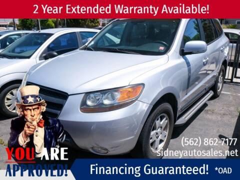2007 Hyundai Santa Fe for sale at Sidney Auto Sales in Downey CA