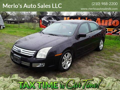 2007 Ford Fusion for sale at Merlo's Auto Sales LLC in San Antonio TX