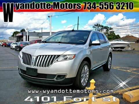 2011 Lincoln MKX for sale at Wyandotte Motors in Wyandotte MI