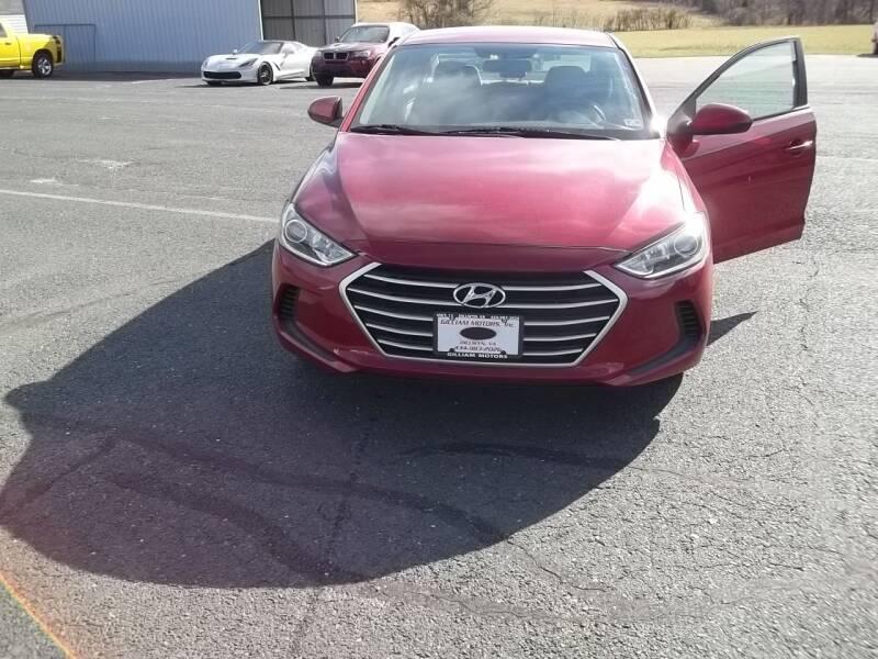 2017 Hyundai Elantra for sale at Gilliam Motors Inc in Dillwyn VA