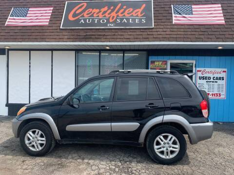 2003 Toyota RAV4 for sale at Certified Auto Sales, Inc in Lorain OH