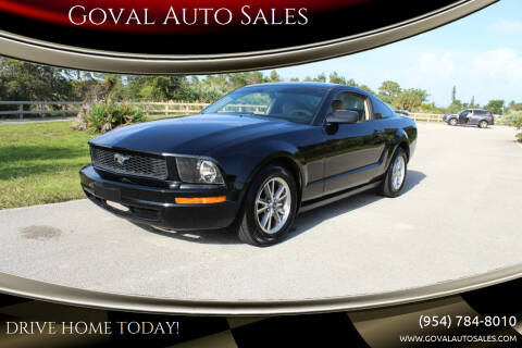 2005 Ford Mustang for sale at Goval Auto Sales in Pompano Beach FL