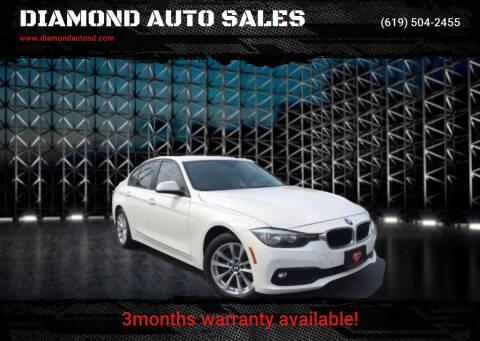 2016 BMW 3 Series for sale at DIAMOND AUTO SALES in El Cajon CA